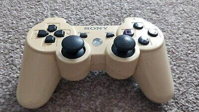 SONY PLAYSTATION 3 DUALSHOCK 3 CONTROLLER CERAMIC WHITE / slight discoloration