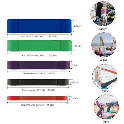 Resistance Bands Assisted Pull Up Band Power Lifting Exercise Band Latex UK