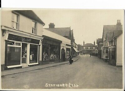 RP Postcard - Station Road, Liss, Nr Petersfield, Hampshire.