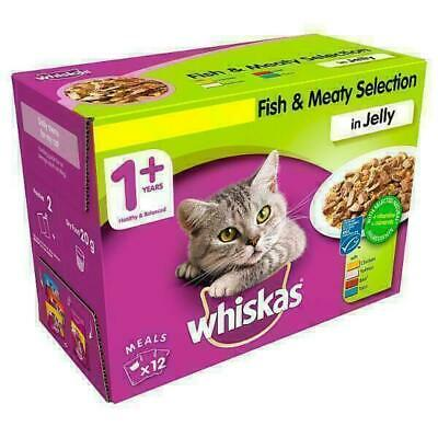 Whiskas Fish and Meat in Jelly Wet Adult 1+ 12 x 100g (Price Marked)