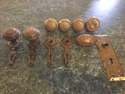 Vintage Door Knob Lot Copper Brass