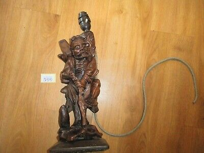 Carved Wooden Figure / Table Lamp