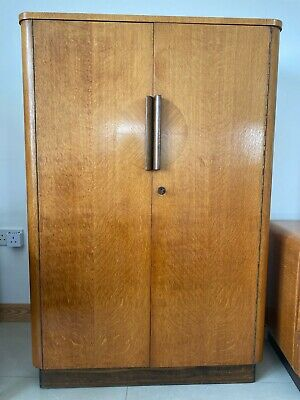 Tall Boy - art deco united up works oak compact wardrobe Cira 1940