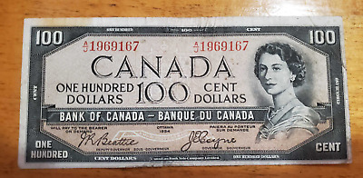 100 Dollar Canadian Devil's face Bill