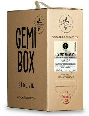 Vino Pecorino Falerio DOC 2018 Bag in Box 6 Litri Geminiani - GemiBox -