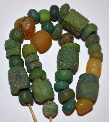 Rare Ancient Glass Excavated Dig Beads Afghanistan Trade Circa 1000 Years Old
