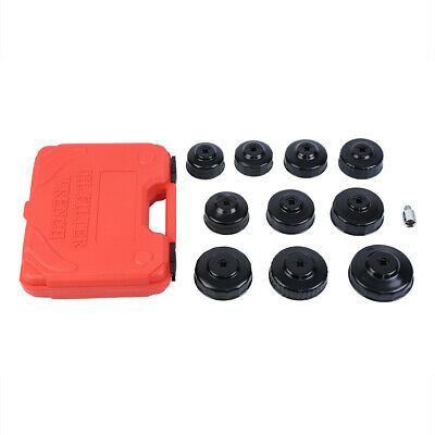 11 Pcs Oil Filter Cap Wrench Socket Removal Installer Hand Tools w/ Suitcase