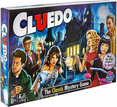 hot Hasbro CLUEDO Classic Murder Mystery Family Board Game and clue cards