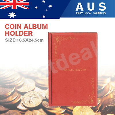2x150 Australian Coin Album Holder Book Storage large slots Suit 50 cent Red