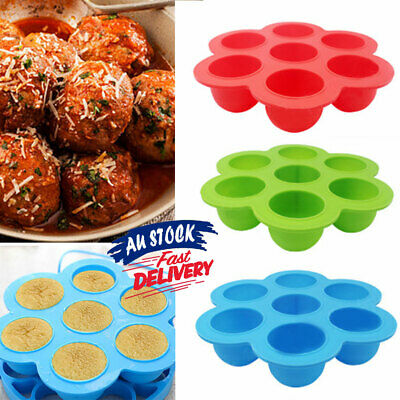Silicone Freezer Silicone Storage 7 Cavity Food Container Kid Baby Trays Lid