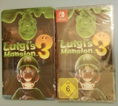 Brand new and sealed Nintendo Switch - Luigi's Mansion 3 and Steelbook
