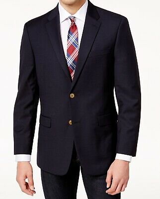 Tommy Hilfiger Mens Suit Seperates Blue Size 40 Short Two Button Wool $199 284