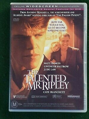THE TALENTED MR. RIP[LEY - Matt Damon, Gwyneth Paltrow, Jude Law - DVD