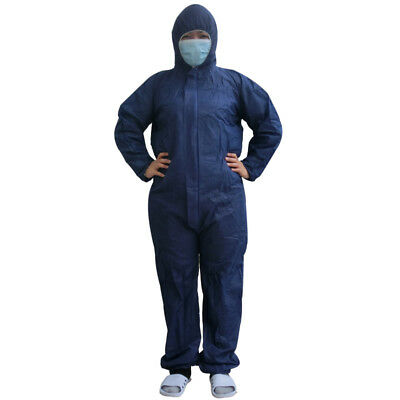 Coveralls Hazmat Disposable Hood Overalls Chemical Air clean Protective Clothing