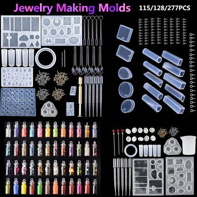 Resin Casting Molds Silicone DIY Mold Jewelry Pendant Mould Making Craft Kit UK