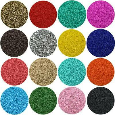 Lots of 2500pcs Economical 11/0 Rocaille 1.8mm Small Round Glass Seed Beads DIY