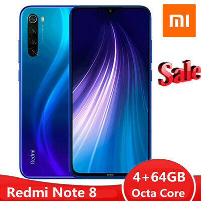 Xiaomi Redmi Note 8 4/64GB MIUI 10 Snapdragon 665 Octa Core 48MP 4 AI Cam Mobile