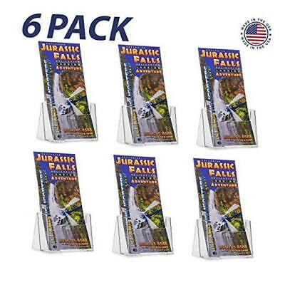 Source One 6 Pack Premium Counter Top Trifold 4-Inch Wide Acrylic 6 Pack