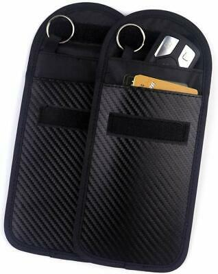 2x Car Key Signal Blocker Case Faraday Fob Pouch Keyless RFID Blocking Bag Pouch