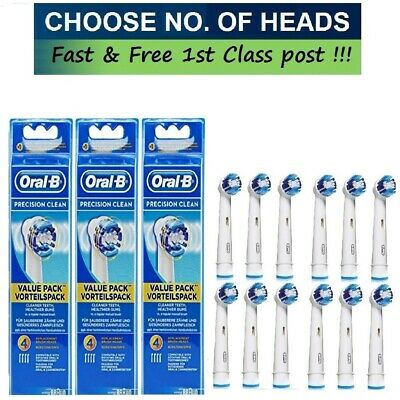 Braun Oral-B Replacement Electric Toothbrush Heads Precision Clean Brush Heads