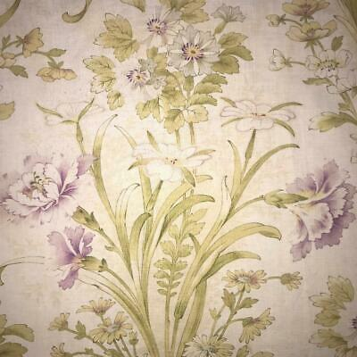 BEAUTIFUL LATE 19th CENTURY FRENCH FINE FLORAL LINEN COTTON CARNATIONS 907