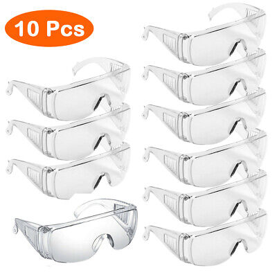 1-10PCS Anti-fog Safety Goggles Clear Glasses Dustproof Eye Protection Work Lab