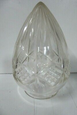 Vintage Crystal Cut Glass Lamp Shade Light Fitting