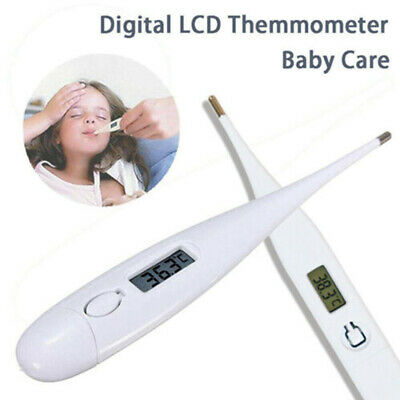Digital Thermometer Medical LCD Display Oral Ear Underarm Audible Fever Alarm UK