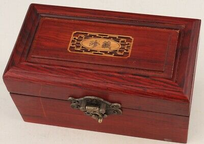 CHINESE WOOD JEWELRY BOX SEAL PRECIOU HANDICRAFT COLLECTION Antique Collection