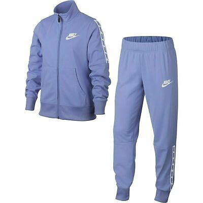 Nike Girls Tracksuit Light Violet Top Bottoms Pants Jumper 10-11_14-15 Years