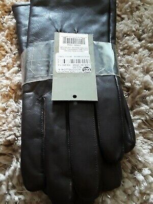 Goodfellow & Co Men's Leather Dress Glove Thinsulate Lined Gloves Brown Medium