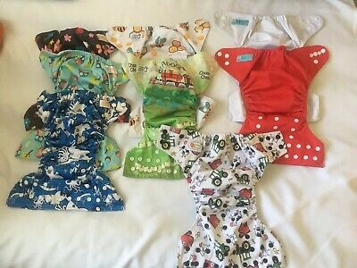 Cloth Diapers Mixed Lot Of 8~~Different Brands Liners Not Included