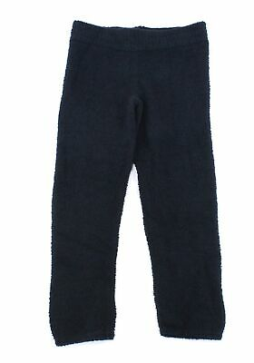 Ugg Womens Pants Black Size XS Fluffy-Knit Joggers Mid-Rise Stretch $88 310