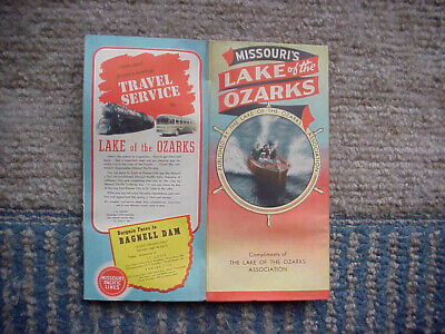 1940's LAKE OF THE OZARKS MAP AND SALES BROCHURE