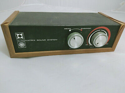 Rare Vintage AWA Quadmatrix Sound System Unit