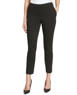 Tommy Hilfiger Womens Pants Black Size 10 Dress Slim Cropped Stretch $79 732