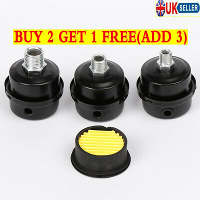 12.5/16/20 MM Metal Air Filter Oil-Free Muffler Air Compressor Pump Accessories~