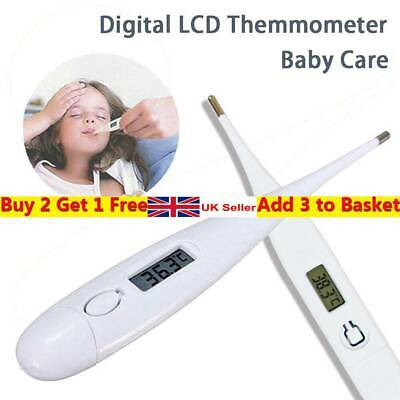 Portable Baby Adult Temperature Meter LCD Digital Thermometer Fever Measuring UK