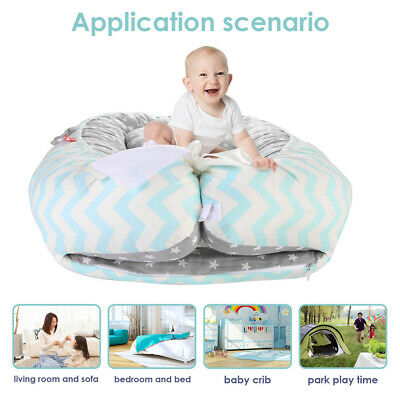 Infant Baby Newborn Bassinet Bed Portable Soft Lounger Crib Sleep Nest w/Pillow