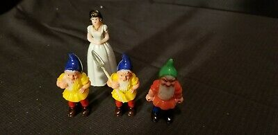 Snow White and the  3 Dwarfs Vintage Cake Topper Decoration used