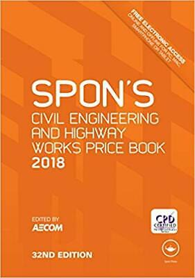 Spon's Civil Engineering and Highway Works Price Book 2018 1st Edition, Kindle E