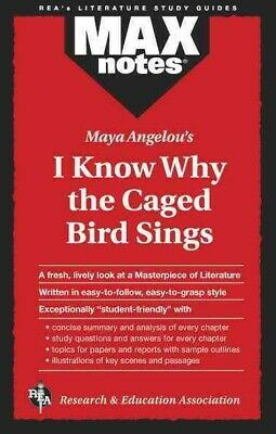 Max Notes I Know Why the Caged Bird Sings, Paperback by Research and Educatio...