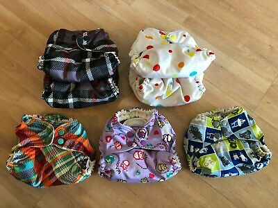 7 Rumparooz Kangarcare One Size Pocket Cloth Diapers PRINTS with inserts