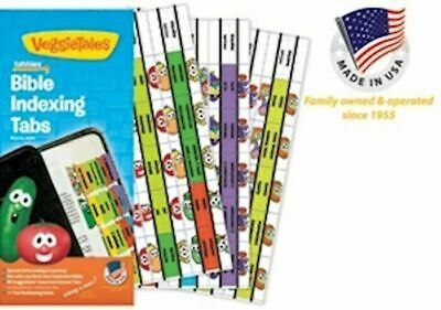 Bible Indexing Tabs - Tabbies - Veggie Tales Old & New Testament Assorted Colors