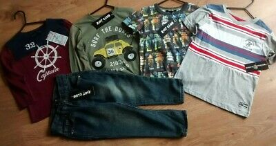 Boys Clothing Bundle Shirts / Jeans Age 2/3 (5 Items) BNWT