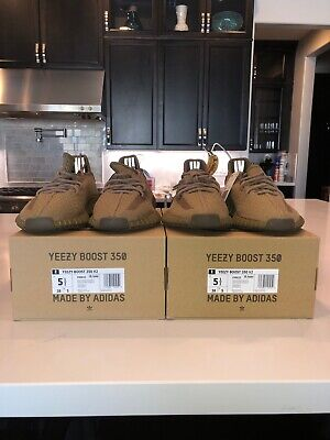 Adidas Yeezy Boost 350 V2 Earth US Mens Size 5.5 FX9033 DEADSTOCK NEW *IN HAND*