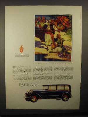 1929 Packard Standard Eight Five-Passenger Sedan Car Ad