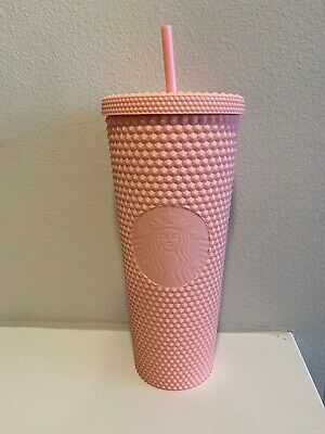 Starbucks Spring Collection 2020 Matte Pink Studded Tumbler 24oz (FAST SHIPPING)