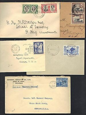 Uk Gb British Commonwealth 1930 50 Collection Of 5 Commercial Covers Rhodesia