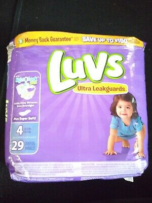29 Luvs Ultra Leakguards Diapers with Night Lock, Size 4